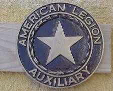 "Cast Brass American Legion Auxiliary  Grave Marker/Flag Holder  6"""