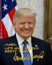 Personalized Donald Trump 8x10 Signed Photo Official Print Autographed MAGA