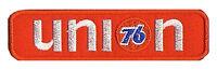 Patch écusson patche 76 UNION racing gasoline thermocollant