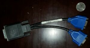 Molex  DMS-59 Used Male to Dual Female VGA Y Cable