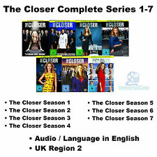 The Closer Complete Series 1-7 Season 1 2 3 4 5 6 7 BoxSet Kyra Sedgwick 28 DVDs