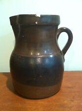 Antique Brownware Stoneware Pitcher