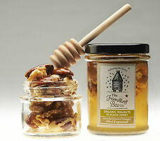 Organic Walnuts in Raw Acacia Honey, Raw and unprocessed (2 jars)