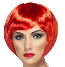 Peluca peinado Bob de disfraz para mujer nena Rojo Despedida Soltera by Smiffys
