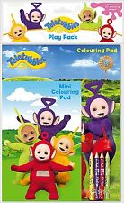 TELETUBBIES - Colouring Books/ Pads with Pencils (Kids/Gift/Fun)