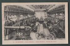 le Creusot Usines Schneider Atelier Cannons Artillery  vintage postcard  Da.2