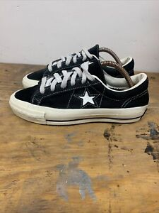 Converse One Star size 4.5 Usa Made RARE Nirvana Black Suede Leather 80s 90s