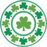8 St Patrick's Day Shamrock Paper Plates Party Lucky Shamrocks Irish Party Plate