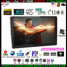 10''2 Din Android GPS Car Radio+Camera FM Touch Airplay iOS Mirror Link BT Wifi