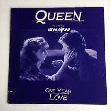 """Queen - One Year Of Love -  12"""" Promo Vinyl Single - (France) 1986 - Rare"""