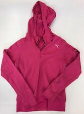 Puma Women's Running Polyester Hooded Shell Pullover Size Small MP3 holderWorn