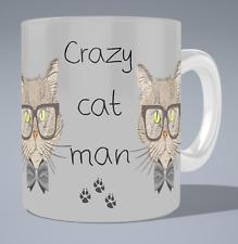 Crazy cat man mug - Cat Woman /gift/present Funny/Novelty Animal/Cat lovers