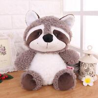 Big Tail Gray Raccoon Plush Doll Stuffed Animal Soft Toy 25cm Kids Birthday Gift