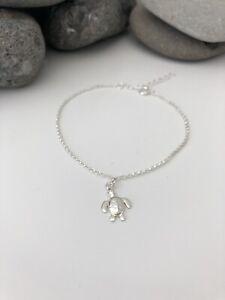 Sterling Silver Fine Chain Bracelet With Turtle Tortoise Charm. Silver Bracelet