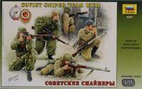 Zvezda 1:35 Soviet Sniper Team WWII Plastic Figures Kit #3597