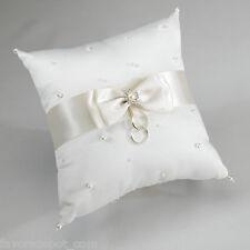 Ivory Pearl Wedding Rings Pillow  Ring Bearer Pillow Wedding Ceremony Ringbearer