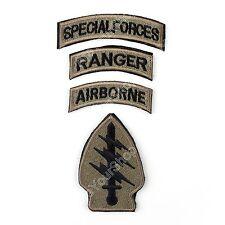 MultiCam Patch Special Forces & Airborne & Ranger Tabs Gestickt Patch Badge