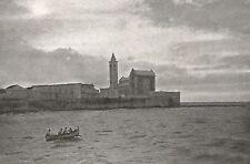 D0701 Trani - Cattedrale vista dal molo - Stampa d'epoca - 1929 old print