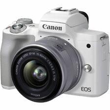 Canon EOS M50 Mark II Mirrorless Digital Camera w/ 15-45mm Lens (White) 4729C004