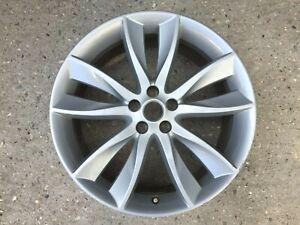 """1 x Jaguar XF X250 2011> 20"""" Hydra Twin 5 Spoke SILVER GENUINE OEM Alloy Wheel"""