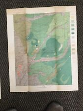 Vintage Usgs Pyramid Peak California 1899 Topographic and Timber Map
