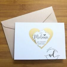 Personalised Will You Be My Godmother Godparents Scratch off Card Scratchy Blush