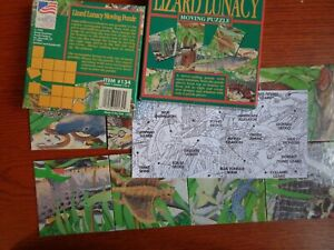 Critical Thinking card Puzzle .Lizard Lunacy moving puzzle: 9 pieces: good cond