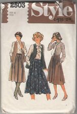 Sewing Pattern - MISSES SLEEVELESS CARDIGAN, SKIRT, SHIRT AND TIE - VINTAGE