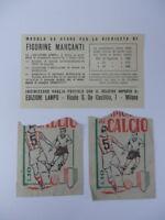 Per ALBUM FIGURINE CAMPIONATO CALCIO 1961 LAMPO calciatori 2 bustine e modulo