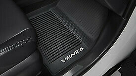Custom Car Floor Mats for Toyota Venza 2009-2017 Luxury Leather Waterproof Anti-Skid Full Coverage Liner Front & Rear Mat//Set red
