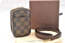 Authentic Louis Vuitton Damier Etui Okapi PM Camera Case N61738 Box LV 56948