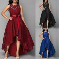 Womens Evening Formal Party Ladies Prom Bridesmaid Lace Long Dress Plus Size Lot