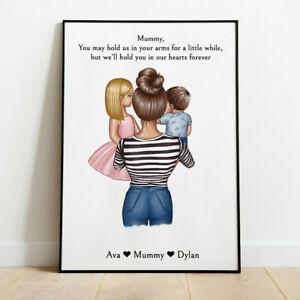 Personalised Mother & Son/ Daughter Picture Print Grandad, Uncle Keepsake Gift