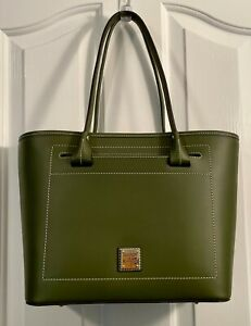 DOONEY & BOURKE Leather Beacon Collection Slip Tote - OLIVE