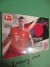 Topps Bundesliga Chrome 2016 Trikot Karte Lewandowski München Jersey Trikotkarte