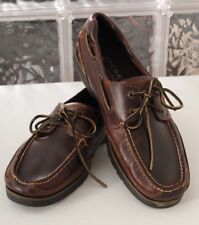 Mens 11.5 Sperry Top Sider Stingray Dark Brown Leather Shoes 0578633
