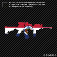 Missouri State Shape AR15 Sticker Decal AR-15 M16 M-16 MO