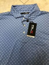 Ralph Lauren Polo RLX Biltmore Golf Shirt Stretch XXL Blue UPF 35 Wicking NWT