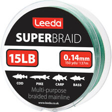 Leeda Super Braid Ligne de Pêche 137 2 M Bobine 15 20 30 40 22.7 kg BS 15lb/0 14 mm