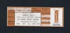 1994 Bonnie Raitt Unused Concert Ticket Austin Texas Longing In Their Hearts