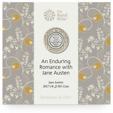 Two Pound Jane Austen £2 New Coin Sealed Pack 2017 Royal Mint Uncirculated