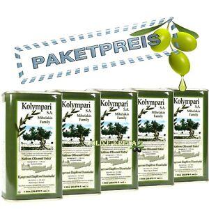 5L KOLYMPARI SA 04055 - Natives Olivenöl Extra (5x1L Dosen), KRETA MHD 05/23