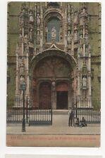 Lisboa Portico Principal do Mosteiro dos Jeronymos 1915 Portugal Postcard 308a