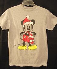 Disney Mickey Mouse Christmas Grey Distressed Graphic Tee - Holiday's Nearing!