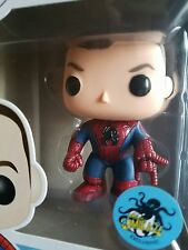 Funko Pop! Peter Parker #34 Comikaze Exclusive Spider-man Unmasked + protector