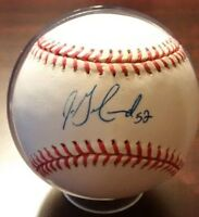 JON GARLAND Autographed Baseball with COA on a Gene A. Budy Baseball