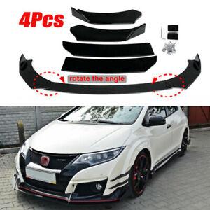 For 2013-2015 Civic Sedan 2DR Type R Glossy Black Front Bumper Body Kit Lip 3Pcs