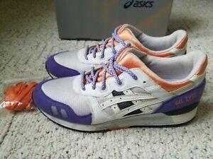 Asics Gel-Lyte III OG Kithstrike Men's Size 10 Purple White Orange Kith Lyte 3