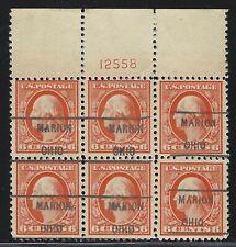 Precancels - OH - Marion - 506-461 plate block/6 - 6¢ 1917 Washington