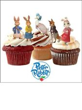 30 x Peter Rabbit Beatrix Potter stand up Cake Toppers Comestibles